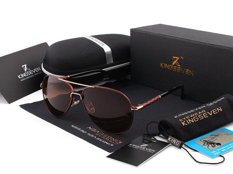 2016 New Arrival KINGSEVEN Polarized Sunglasses Men/Women Brand Designer Male vintage Sun Glasses gafas oculos de sol masculino 7