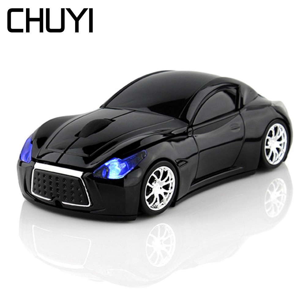 CHUYI Wireless <font><b>Car</b></font> Mouse Sports <font><b>Car</b></font> 2.4Ghz USB Optical Computer Mice 3D Mause Gamer For PC Laptop Gift image