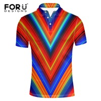 c791bd8f12 FORUDESIGNS 2017 Summer Mens Modern Cotton Polo Shirts Brands Clothing  Luxury Brighted Color Man S Slim