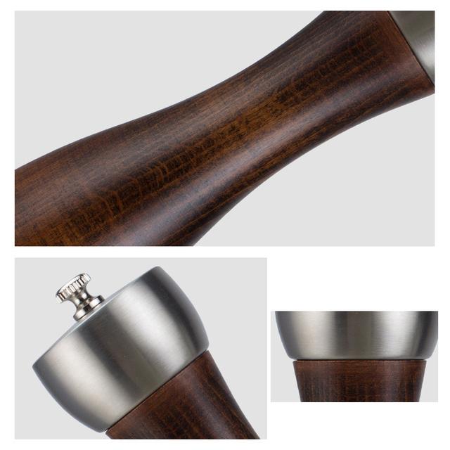 Premium beech pepper mill – carbon steel rotor