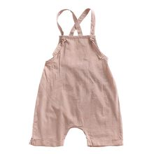 Stylish Baby Overalls With Solid Comfortable For Your Child To Dress With Drawstring In The Summer(China)