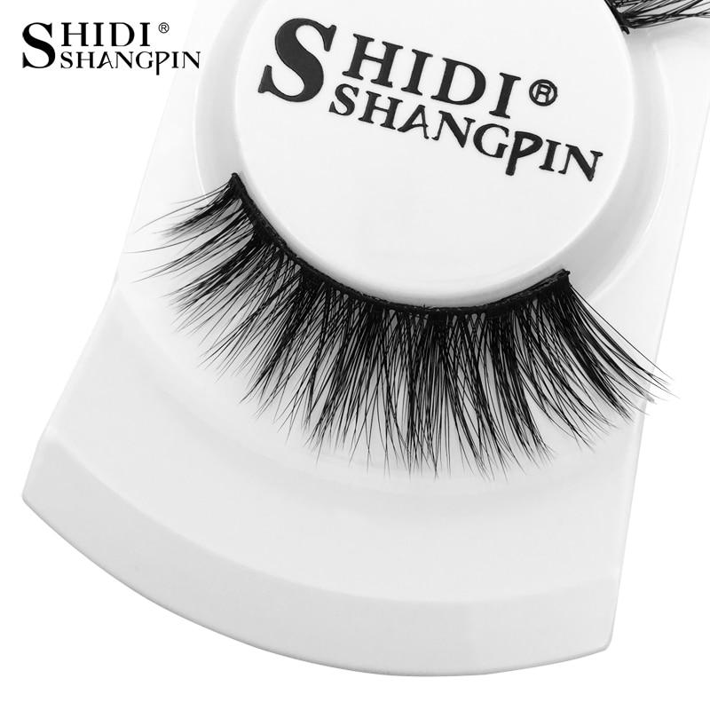 SHIDISHANGPIN 1 pasang bulu mata solek semula jadi panjang 3d mink sebatan tangan dibuat pelanjutan bulu mata 1cm-1.5cm bulu mata maquiagem