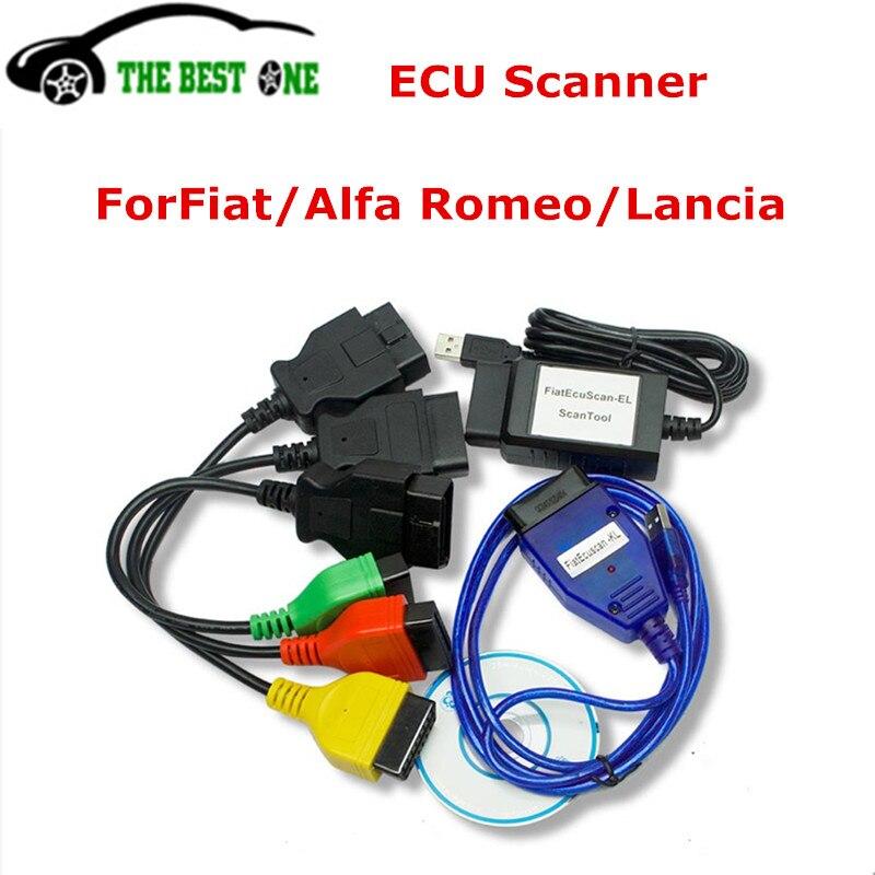 Цена за Высокое качество forfiat ЭКЮ сканирования с 5 шт. forfiat ЭКЮ чип-тюнинг инструмент БД OBD2 диагностический Интерфейс ЭКЮ программист для Alfa Romeo