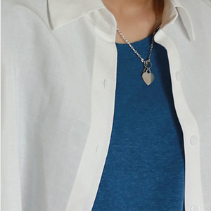 Image 3 - 100% 925 Sterling Silver Eliza White Coin Pendant Short Clavicle Necklace Chain Ornament