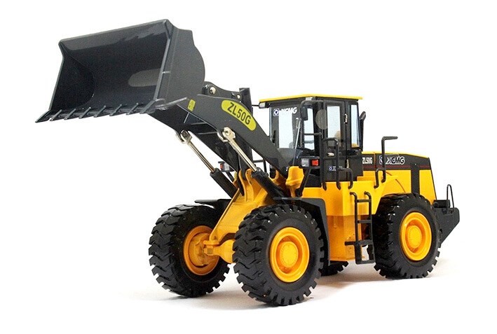 1:35 ZL50G and alloy bulldozer forklift model alloy engineering vehicle model / domestic raw plant collections