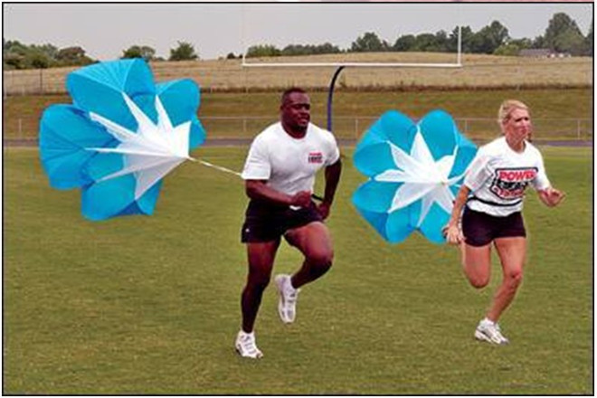 Hız Eğitim Koşu Sürükle Paraşüt Futbol Eğitimi Fitness Ekipmanları Hız Sürükle Oluk Fiziksel Eğitim Ekipmanları