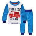Boys thermal nightwear,printed fire engine,kids pajamas velvet thickening,child clothes set,next* clothing style snuggle pyjamas