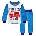 Boys thermal nightwear,printed fire engine,kids pajamas velvet thickening,child clothes set,next* clothing style snuggle pyjamas