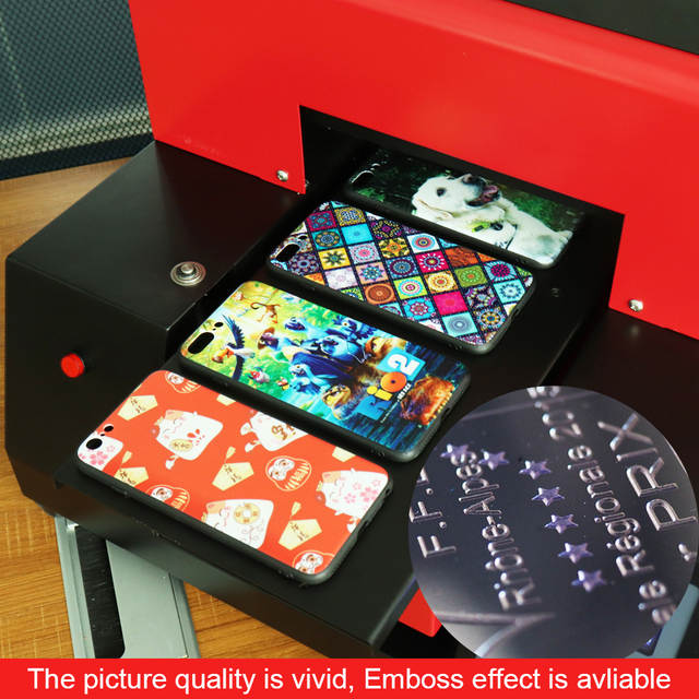 US $1698 3 15% OFF|Automatic Glass Metal UV Printer A4 Size UV Flatbed  Phone Case Printing Machine For Phone Case/T Shirt/ Leather High Quality  -in