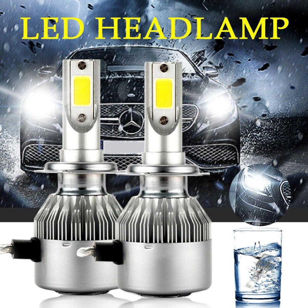 2pcs C6 H4 LED Car Headlight Bulbs H7 Led 36W COB H1 H3 H4 H7 H11 9005 9006 9012 Lights Fog Lamps Car Styling
