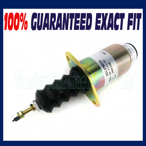For Cummins Generator Shutdown Shut Off Stop Solenoid Valve 6cta 8.3L 24V 3906776 fuel shutdown solenoid 1823723c91 sa 4338 24 for cummins navistar 24v