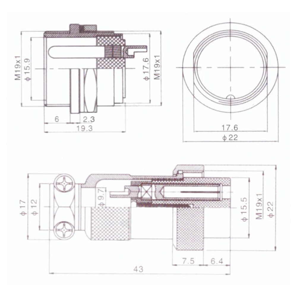 航空插头GX20规格书 (1)