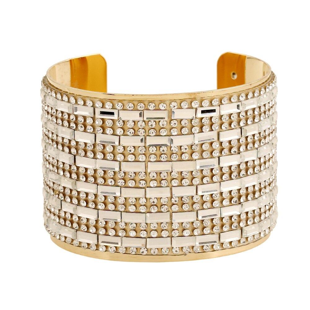 Hot Sale Luxury Ladies Designer or argent rempli cristal Charm Bracelets Bangles pour les femmes 2016
