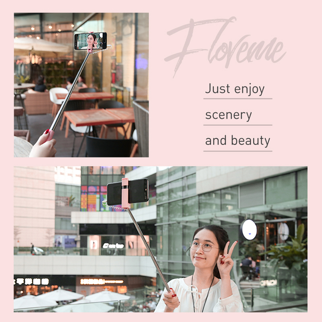 FLOVEME Mini Selfie Stick For iPhone 6 5 3.5mm Jack Wired Selfie Stick Monopod For Samsung Xiaomi Android Portable Selfiestick