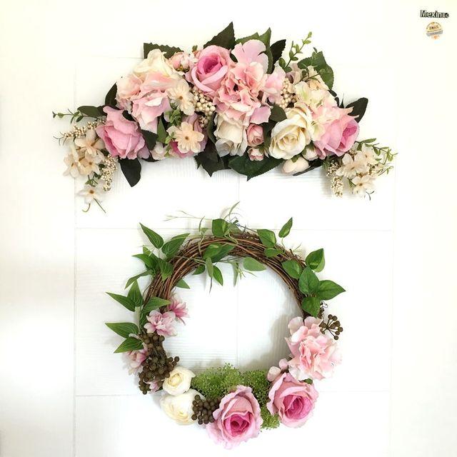 Department Door Decorative Wreaths Mirror Flower Wall Garland Home Furnishing Wedding Christmas Party Room Flowers Wreath