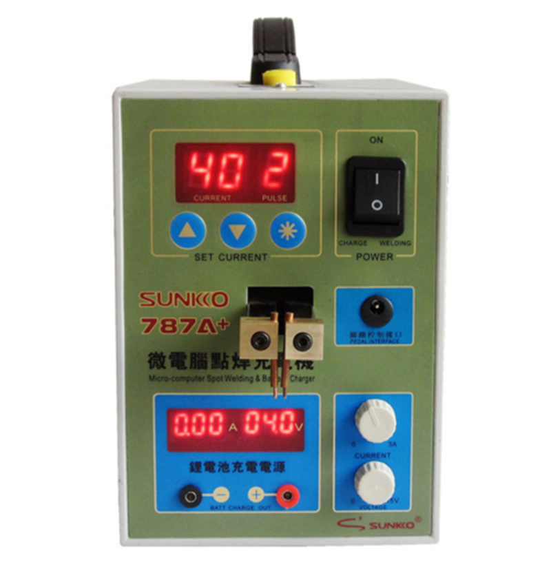 787A+MCU Battery Spot Welder machine Welding Machine Applicable Notebook and Phone Battery Precision Welding Pedal portable microcomputer control precise battery spot welding machine high power battery spot welder welding machine