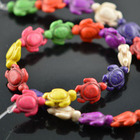 Colorful Howlite Turquoise Animal Carved Beads Tortoise Charms Beads Decorations 10pc Lot Free Shipping
