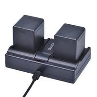 2pc VW VBN260 VW VBN260 Camera Battery + USB Charger for Panasonic HC X800 HC X900 HC X900M HC X910 HC X920 HC X920M HDC HS900