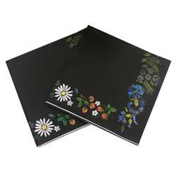 Напиток Бумага салфетки черный цветок Событие и Партия ткани салфетки украшения салфетки 33 см * 33 см 20 шт./упак./лот