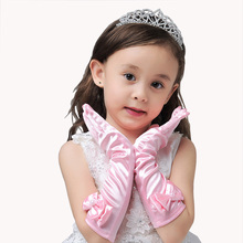 Bow Girls Gloves Sunscreen Long Gloves Children's Day Professional Gloves Dance Party Princess Dress Accessories Gloves
