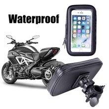 Impermeabile Bike Supporto Del Telefono Supporto Del Basamento Del Telefono per il iphone 4 5 6 Più Il Sacchetto Del Telefono Del Supporto GPS Bicicletta Moto Suporte Para Celular