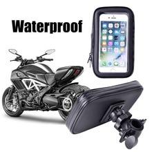 Wodoodporna rowerów telefon uchwyt na stojak na telefon wsparcie dla iPhone 4 5 6 Plus rower GPS uchwyt na telefon torba Moto Suporte para Celular