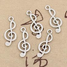 3Charms musical note 26*10mm Hollow Antique,Zinc alloy pendant fit,Vintage Tibetan Silver,DIY for bracelet necklace