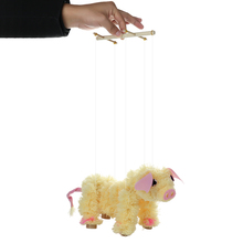 Novelty Toy Pull String Puppet Piggy Stuffed Marionette Joint Activity Doll Festival Gift