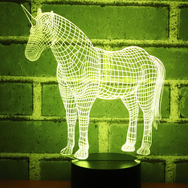 Buy horse lamp 3d visual led night lights and get free shipping on  AliExpress.com 6a15e52c5106