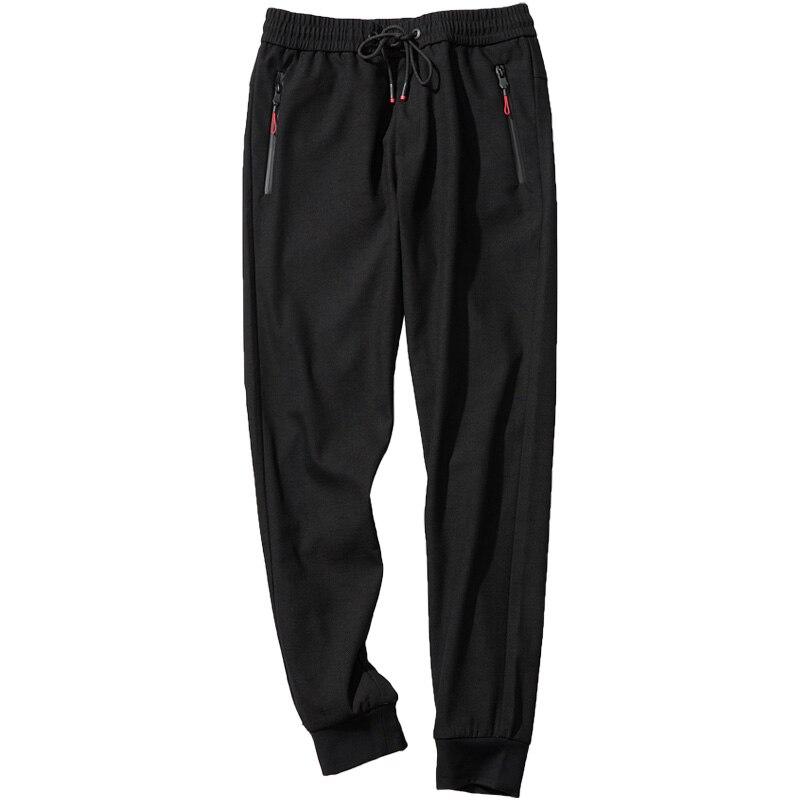 Harén Invierno Tobillo Elástica Sueltos Hombres Pantalones 90063 Cordón Sólido Qzhihe Cintura Casuales Negro De Longitud Recto wR6UWqxf