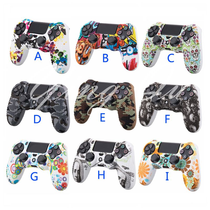 50 Pcs Studded Anti slip Silicone Rubber Cover Skin Case for Sony PlayStation 4 PS4 DS4