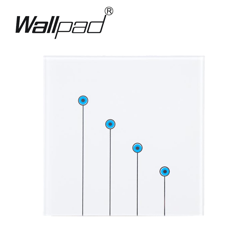 White LED Waterproof touch light switch,Wallpad 4 gangs 2 way wall switch touch 110V~220V, Free Customize Buttons,Free Shipping hot selling 5 gangs 1 way purple touch light wall glass switch buttons free customize led micro touch switch free shipping