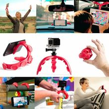 Soft Silicone Suction Cup Flexible Octopus Tripod Mini Phone Bracket Stand Holder for Cellphone Digital Camera mini desktop stand holder for cellphone grey