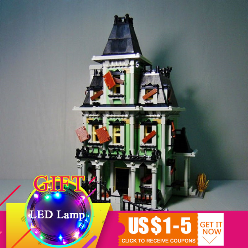 16007 2141Pcs Monster fighter The haunted house Model set Building Kits Model Compatible With 10228 toys lepin 2141pcs the haunted house model set building kits block toy 16007 diy monster fighter educational blocks toys for children