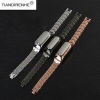 Tiandirenhe Metal strap For Xiaomi Mi Band 1S Metal Strap For 1S 1A Smart Bracelet Wrist Band for xiomi Bracelet 1A 1S