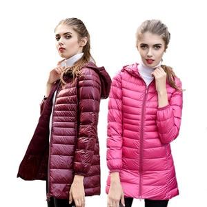Image 2 - Newbang 6XL 7XL 8XL Vrouwen Jas Grote Omvang Lange Ultra Licht Donsjack Vrouwen Winter Warm Winddicht Lieghtweight Down jas