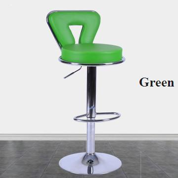 green color bar chair pubilc house coffee stool free shipping PU leather seat household living room milk tea chair ktv bar chair pe rattan seat cafe house stool living room children chair blue green color study stool free shipping
