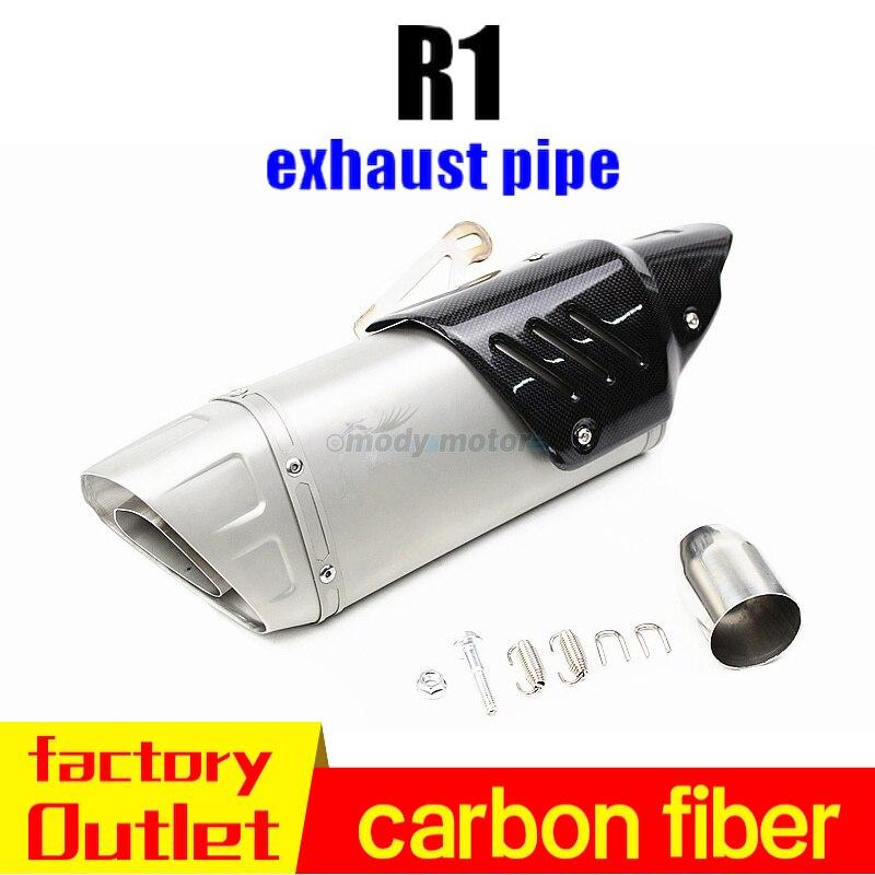 51mm akrapovic échappement moto universel tuyau austing course projet tubo de fuite pour yamaha r15 nmax benelli trk 502