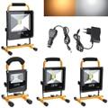 10 W 20 W 30 W 50 W Tragbare LED Flutlicht IP66 Wiederaufladbare Außen Beleuchtung Camping Notfall Lampe LED scheinwerfer Reflektor-in Scheinwerfer aus Licht & Beleuchtung bei