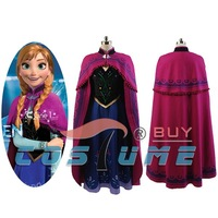Princess Anna Cosplay Costume Adult Dress Gown Halloween Carnival Costumes