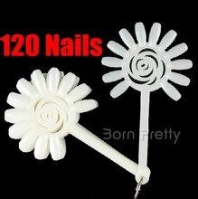 120 tips False Nail Tips Nail Art Display Practice Rosette Board Nail Tools #14199