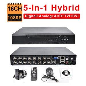 Камера видеонаблюдения, 16 каналов, DVR, AHD, 1080P, 1080N, 5 в 1, Hybrid HVR, NVR, HDMI, 3G, Wi-Fi