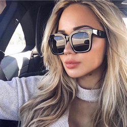 Kim Kardashian okulary przeciwsłoneczne damskie luneta Femme 2020 luksusowa marka kwadratowe ponadgabarytowe okulary przeciwsłoneczne UV400 okulary 2
