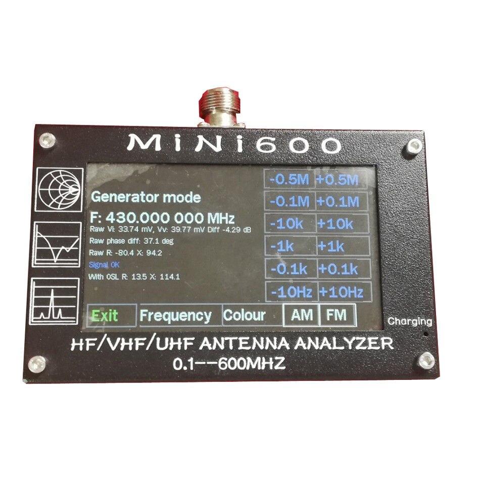 Nouvelle arrivée Mini600 5 v/1.5A HF VHF UHF Antenne Analyseur 0.1-600 mhz SWR Compteur 1.0- 1999 Pour