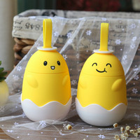 Cartoon Yolk Bottle Student Children Lovely Portable Vacuum Cup Korean Accompanying Mini Originality Glass Glasses Creative
