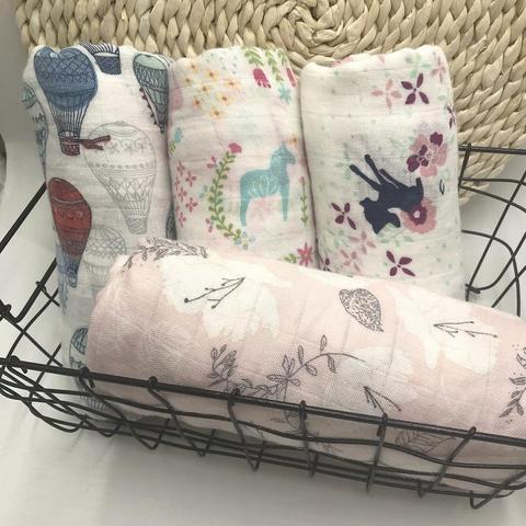 2019 nova melhor 100 fibra de bambu cobertor do bebe musselina swaddle envoltorio para bebes