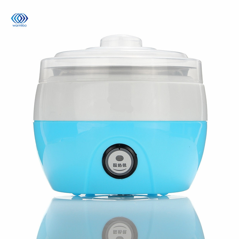 15W 220V US Household Automatic Yogurt Maker Fully Stainless Steel Lnner Tank Top Grade Yoghourt Making Machine hot selling electric yogurt machine stainless steel liner mini automatic yogurt maker 1l capacity 220v