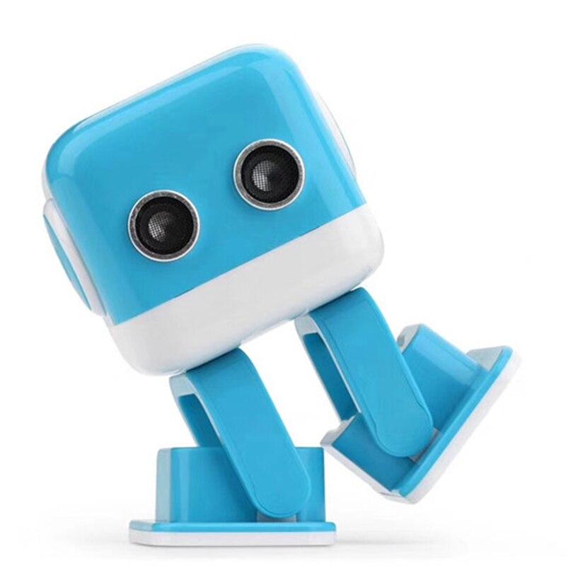 Oyuncaklar ve Hobi Ürünleri'ten RC Robotlar ve Hayvanlar'de Sıcak satış WL F9 APP/radyo kontrol akıllı akıllı dans rc robot Cubee Robot'da  Grup 2