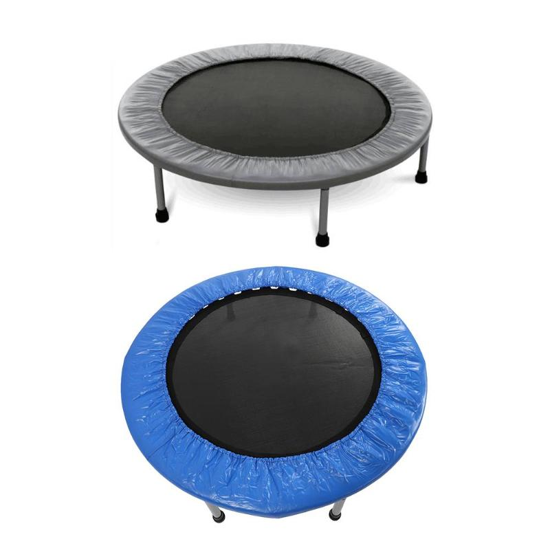 38ft Foldable Waterproof Round Trampoline Bounce Gymnastic Sport Fitness Equipment blue grey