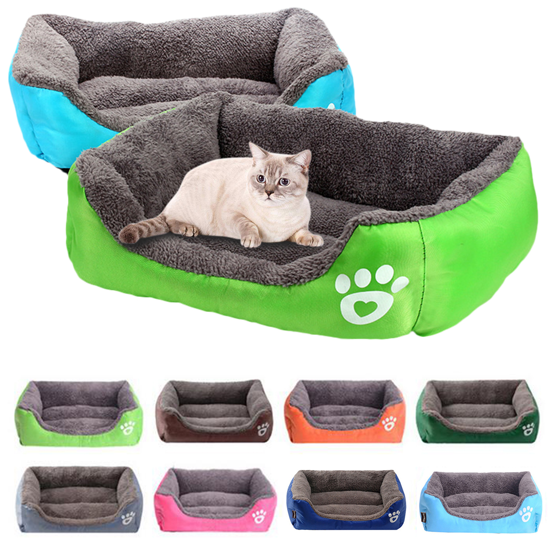 Winter Warming Dog House Paw Pet Sofa Dog Beds Cushion Fleece Warm Cat Nest Sleeping Bed Pet House for Puppy Fall in Houses Kennels Pens from Home Garden